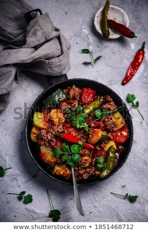 Gegrild rundvlees courgette barbecue Stockfoto © M-studio