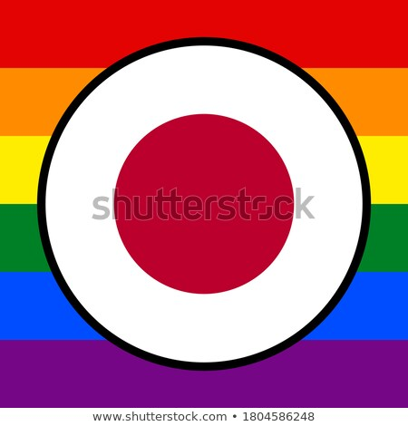 Japan LGBT flag. Japanese Symbol of tolerant. Gay sign rainbow Stock photo © popaukropa