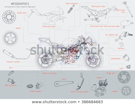 Headlight bike isolated. Motorcycle part. Vector illustration Stock photo © popaukropa