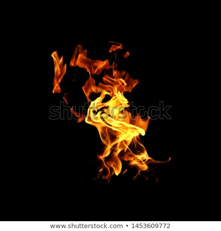 Gaz yanan yangın yalıtılmış bulanık siyah Stok fotoğraf © Valeo5