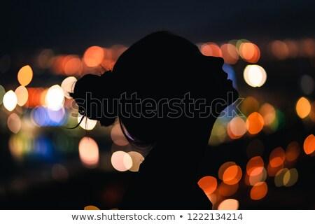 Profile vue jeune femme chignon jeunes Photo stock © filipw