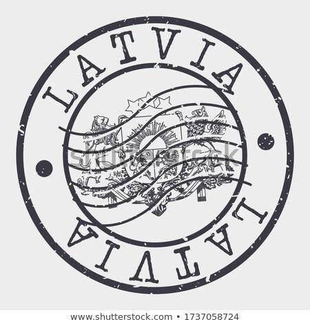Postmark from Latvia Stock photo © 5xinc
