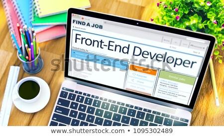 Stock photo: Job Opening Front-End Developer. 3D.