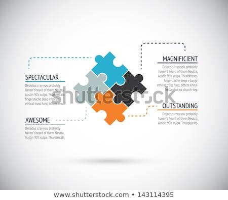 Vektör broşür şablon puzzle parçaları broşür tasarım şablonu Stok fotoğraf © blumer1979