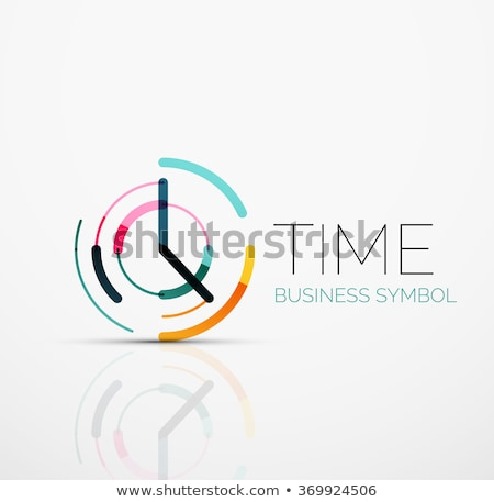 Minimalistic clock or time icon, vector illustration isolated on stock photo © kyryloff