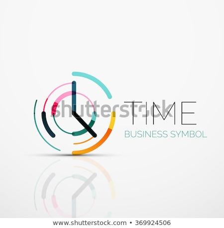 Minimalista óra idő ikon izolált modern Stock fotó © kyryloff