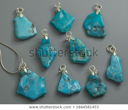 Turquoise Opaque Blue-to-Green Mineral Gem Rock Stock photo © robuart