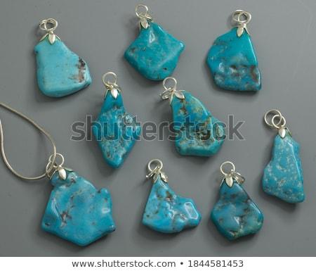 Turchese minerale gemma rock rame alluminio Foto d'archivio © robuart
