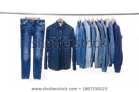 Mavi kot ceket arka plan kumaş renk Stok fotoğraf © OleksandrO