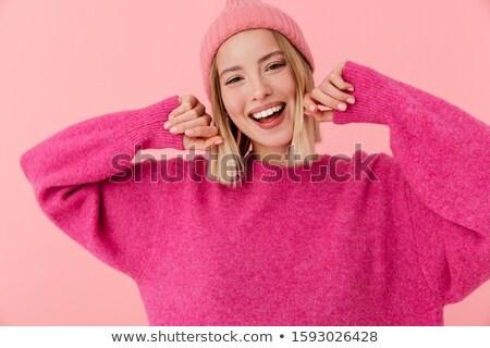 jungen · weiblichen · Hände · halten · Notebook - stock foto © deandrobot