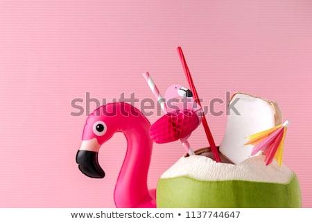 Vers zomer cocktail cute groene kokosnoot Stockfoto © robuart