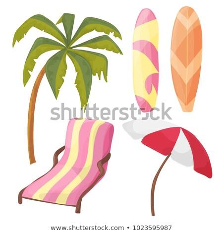 été · Voyage · plage · rose · isolé - photo stock © natali_brill