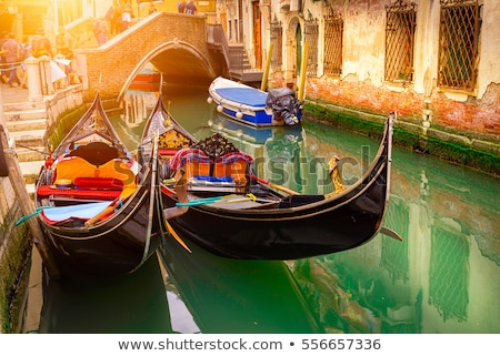 Gondolas and architecture Stock photo © Givaga