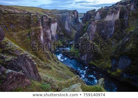 Turista desfiladeiro Islândia anel estrada não Foto stock © Kotenko