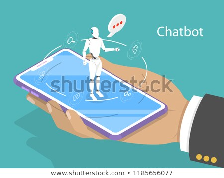customer support chatbot flat isometric vector concept stock photo © tarikvision