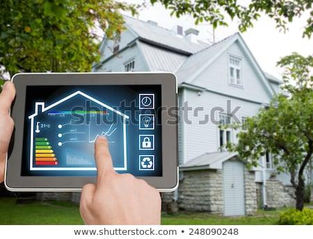 okos · otthon · automatizálás · hipszter · férfi · szakáll - stock fotó © dolgachov
