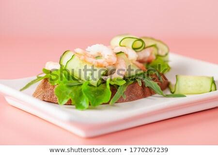 Fraîches salade concombres radis rose vue Photo stock © Illia