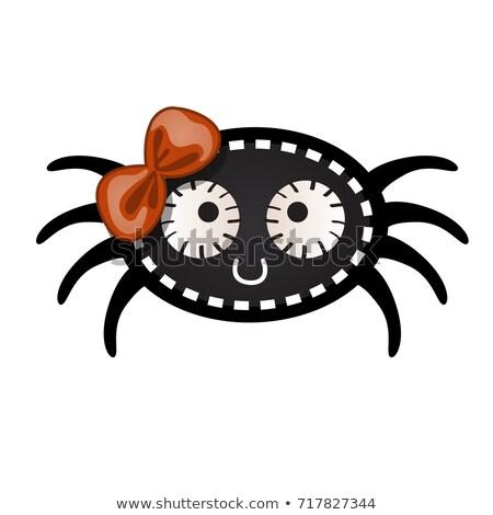 Engraçado preto aranha forma pontilhado Foto stock © Lady-Luck