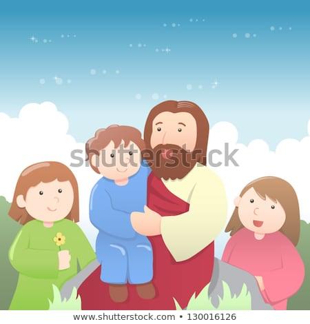 Cartoon Bible Talking Stock photo © cthoman
