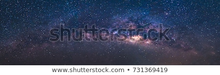 milky way galaxy night landscape stock photo © solarseven