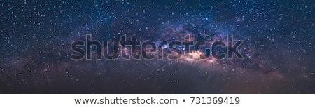 Leitoso maneira galáxia noite paisagem tempo Foto stock © solarseven