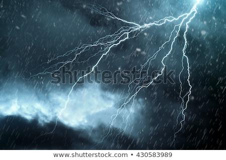 Zivatar esik az eső égbolt illusztráció terv háttér Stock fotó © bluering