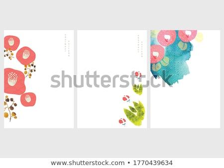 Resumen hermosa rojo blanco japonés aumentó Foto stock © fyletto