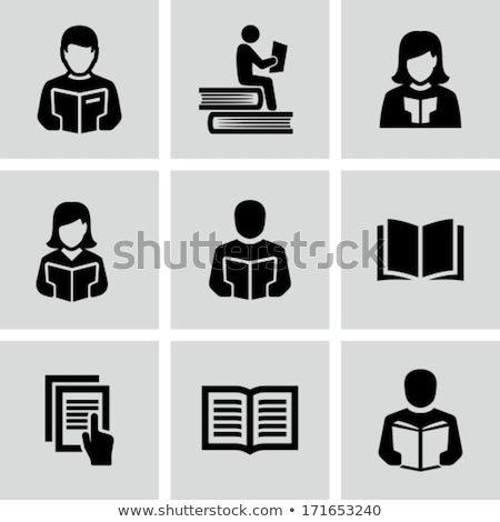 Woman and Man Reading Pages Vector Illustration Stock photo © robuart