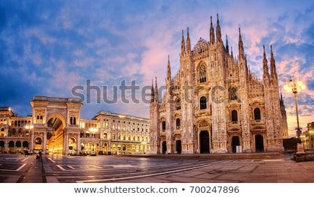 Milan cathédrale détail façade Italie Photo stock © boggy