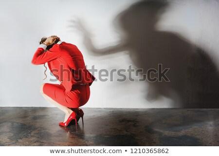Depresji pracy symboliczny zdjęcie cień Zdjęcia stock © Kzenon