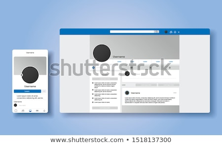 Online Profile Stock photo © Lightsource