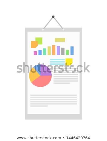 Graphique diagramme info affiche clou affaires Photo stock © robuart