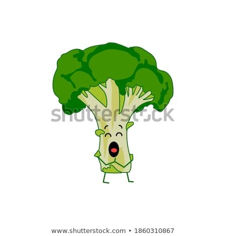 Meglepődött rajz karfiol illusztráció darab néz Stock fotó © cthoman