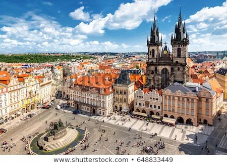 Stok fotoğraf: Katedral · Prag · yaz · gün · ev · kilise
