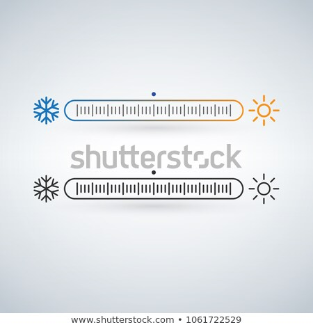 Temperature or weather controller with snowflake and sun, season specific icon. Vector illustration  Stock photo © kyryloff