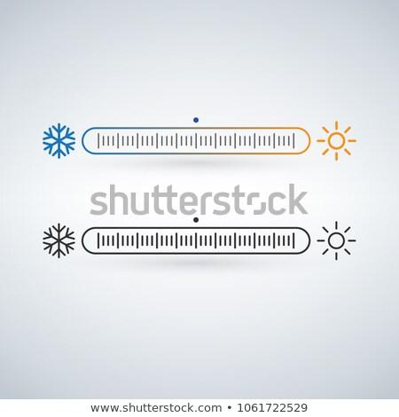 temperatura · tempo · floco · de · neve · sol · temporada · ícone - foto stock © kyryloff