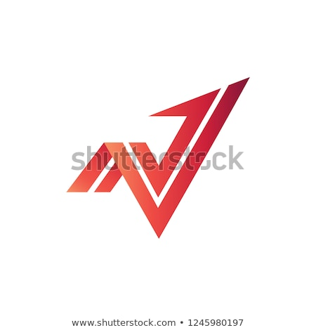 n letter arrow icon vector element Stock photo © blaskorizov