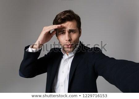 Obraz wesoły człowiek 30s formalny garnitur Zdjęcia stock © deandrobot