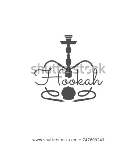 Narguilé détendre étiquette badge vintage logo Photo stock © JeksonGraphics