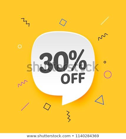 Legjobb árengedmény 30 százalék el promo Stock fotó © robuart