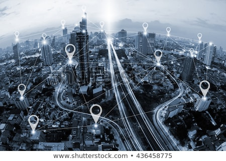 City Map with pin. stock photo © biv