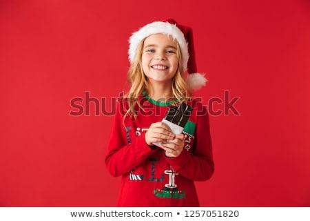 サンタクロース · ホールド · ギフトボックス · 男 · 背景 - ストックフォト © deandrobot