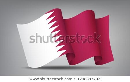 Catar bandeira ícone isolado oficial Foto stock © MarySan