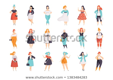 プラスサイズ モデル ドレス エレガントな 着用 ポーズ ストックフォト © RAStudio