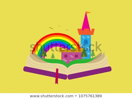 Open book fairy tale  theme Stock photo © bluering