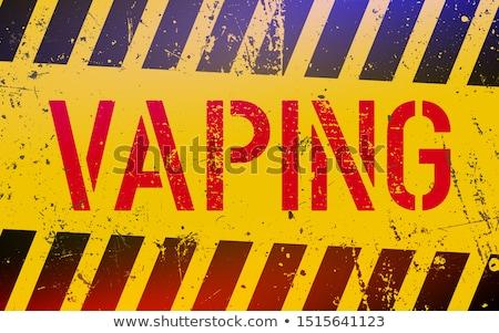 Vecteur électronique cigarette jus design santé Photo stock © netkov1