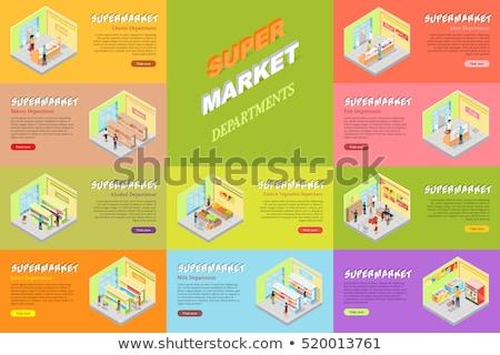 Supermercado comida conjunto vetor isolado geladeira Foto stock © robuart