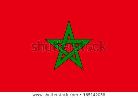 Marokkó zászló fehér nagy szett szív Stock fotó © butenkow