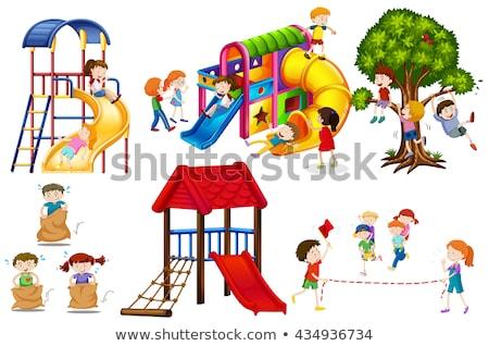 Escalada Zona de juegos ilustración deporte naturaleza Foto stock © colematt