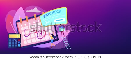 Paycheck concept banner header. Stock photo © RAStudio